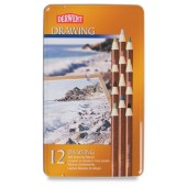 Derwent soft drawing pencils metalen doos 12 kleuren