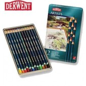Derwent Artists metalen doos 12