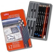 Derwent Sketching collection metalen doos 12 stuks