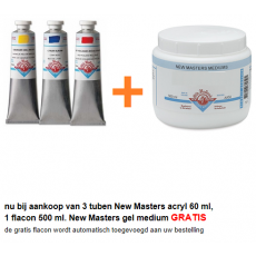 New Masters artists acryl tube 60 ml.