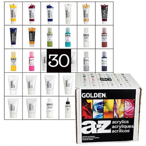 Golden A-Z acryl set