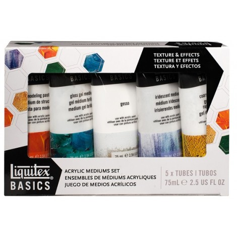 liquitex basics acrylmedium set 5 mediums
