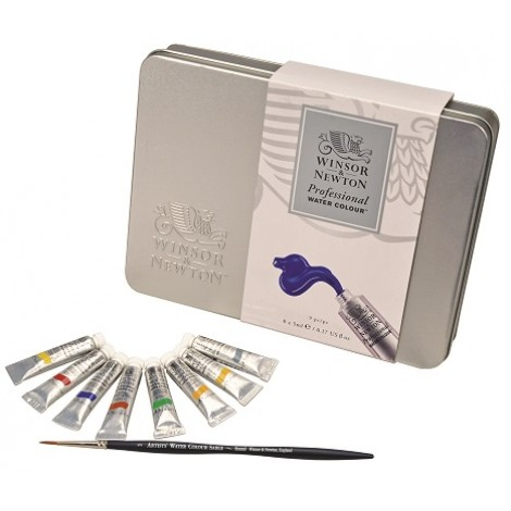 winsor&newton artists aquarel metalen set 8 x 5 ml.