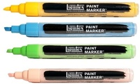 Liquitex artists acryl markers fine 2-4 mm.