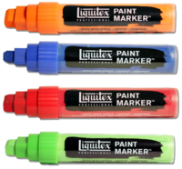 Liquitex artists acryl markers wide 8-15 mm.