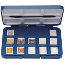 Van Gogh aquarel pocketbox metallics en interference kleuren