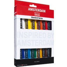 Amsterdam acryl set 12 x 20 ml.