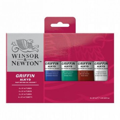 startset griffin alkydverf 6x37ml.