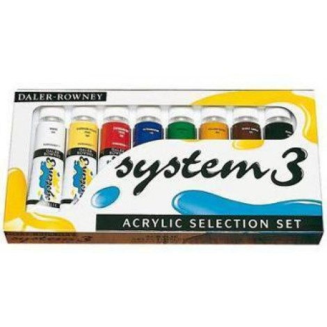 Daler Rowney system 3 original selection set - 8 x 75 ml.