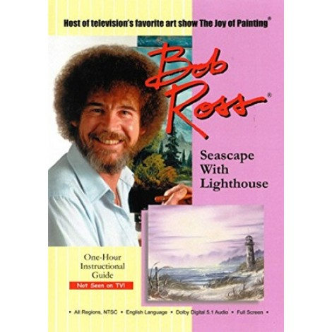 Bob Ross DVD seascape with lighthouse